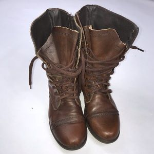 Steve Maddens Troopa Combat Leather Boots 7M